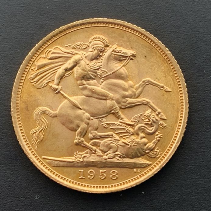 1958 Gold Sovereign